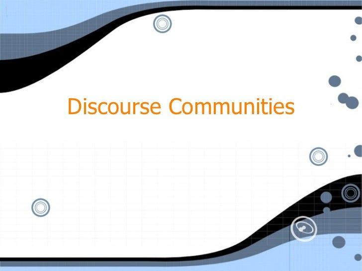 Swales discourse communities