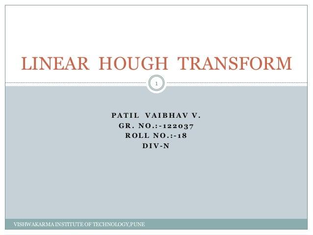 Linear Hough TRansform