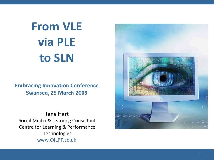 From VLE via PLE to SLN