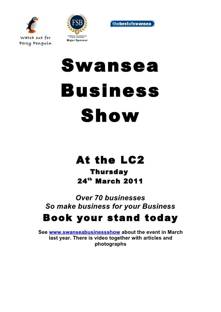 Swansea Business Show Pack 2011