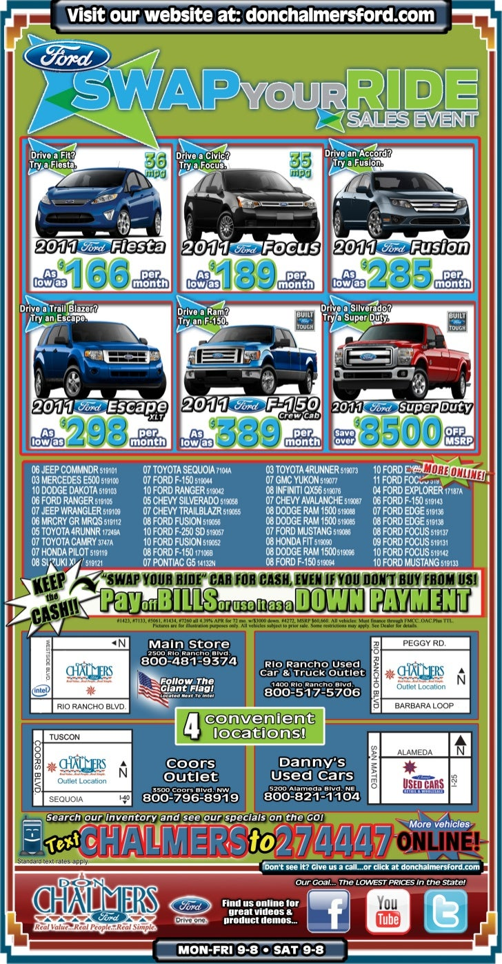 Swap Your Ride Albuquerque NM | Don Chalmers Ford