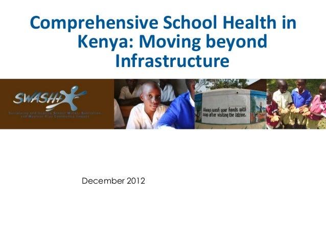 Presentation on SWASH+ and comprehensive school health