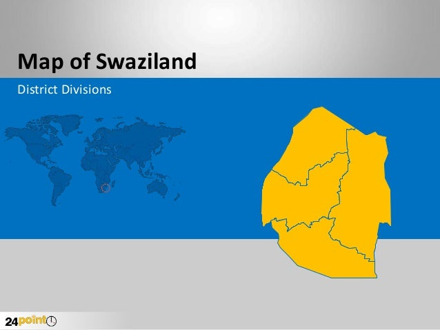 Map of Swaziland District Divisions