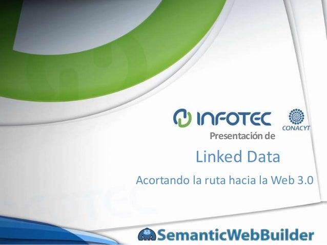 Presentación de           Linked DataAcortando la ruta hacia la Web 3.0