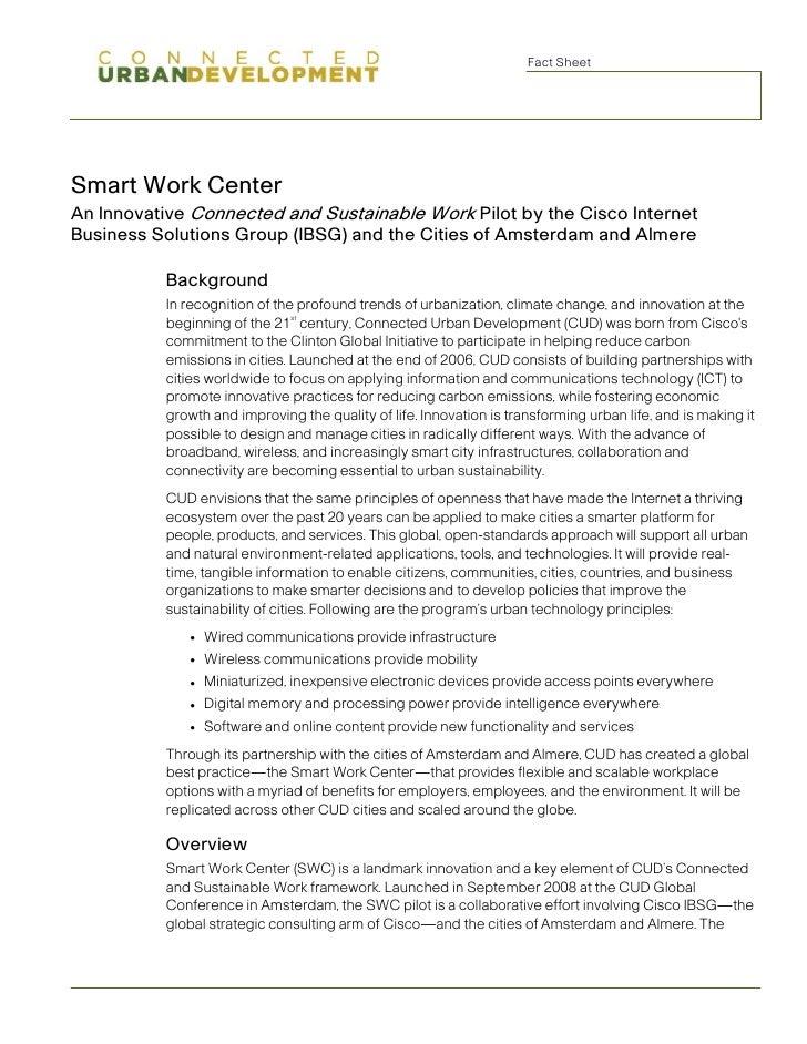 Smart Work Centers Fact Sheet