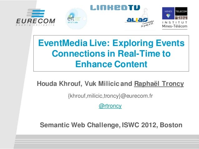 EventMedia Live: Exploring Events   Connections in Real-Time to       Enhance ContentHouda Khrouf, Vuk Milicic and Raphaël...