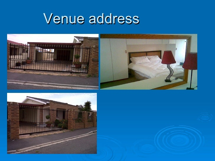 Venue address