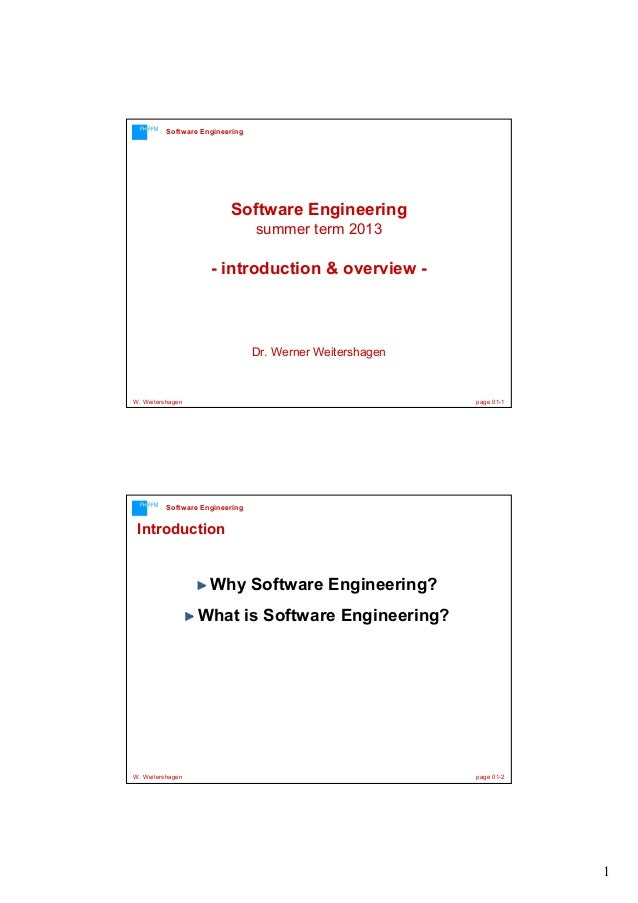 Software Engineering Introduction