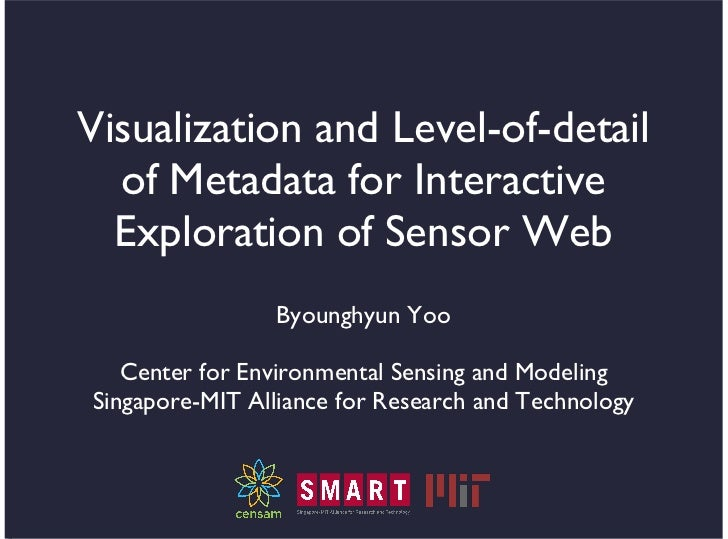 Visualization and Level-of-detail  of Metadata for Interactive  Exploration of Sensor Web                Byounghyun Yoo   ...