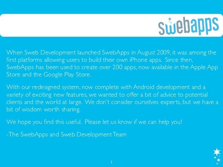 SwebApps E-Book