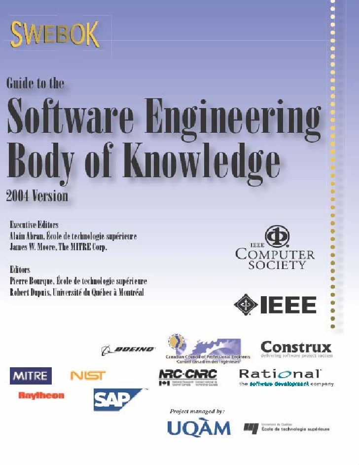 swebok 2004 guide to the software engineering body of knowledge