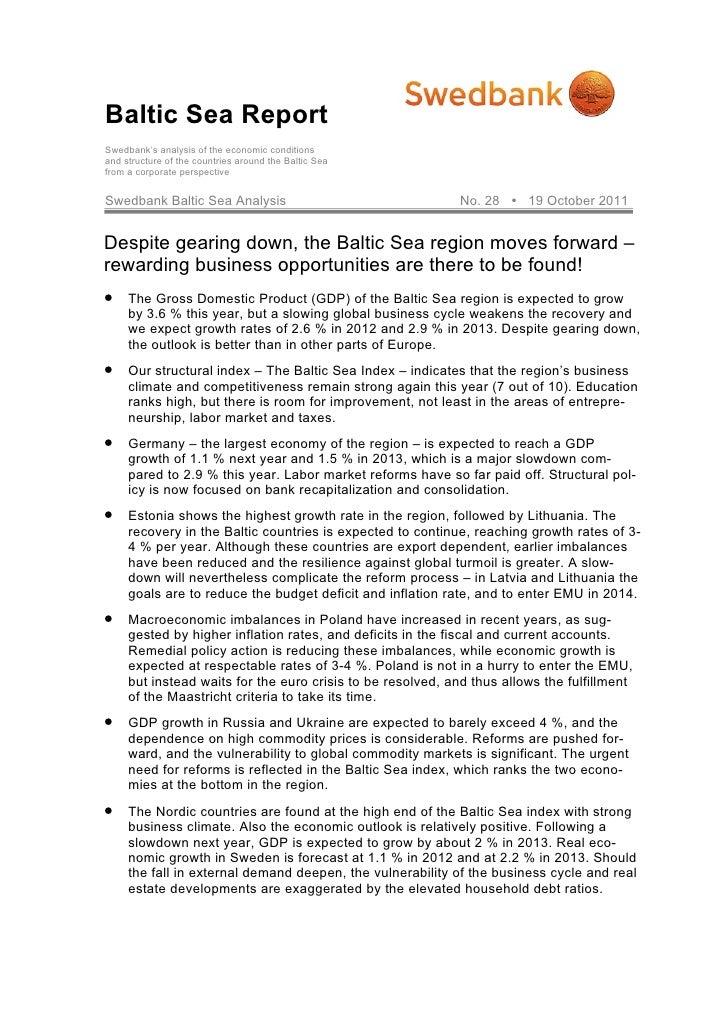 Swedbanks Baltic Sea Region Report 2011