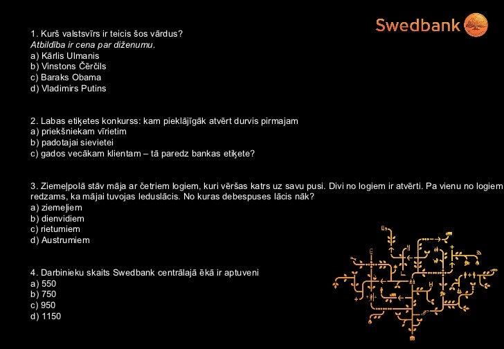 Swedbank labās prakses piemērs - Stratēģija