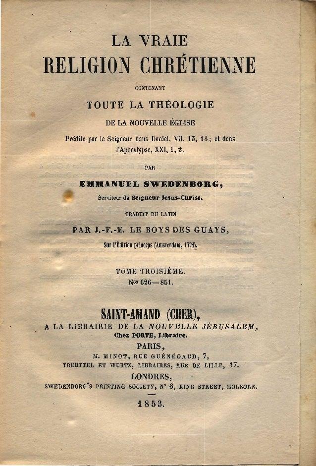 Swedenborg La-Vraie-Religion-Chretienne-TABLE-DES-MATIERES-Amsterdam-1771-Paris-1853