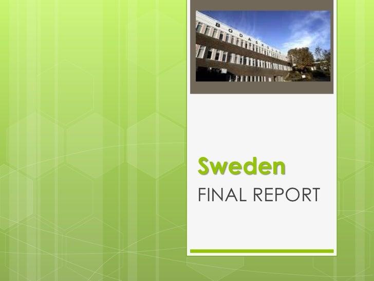 Sweden final report