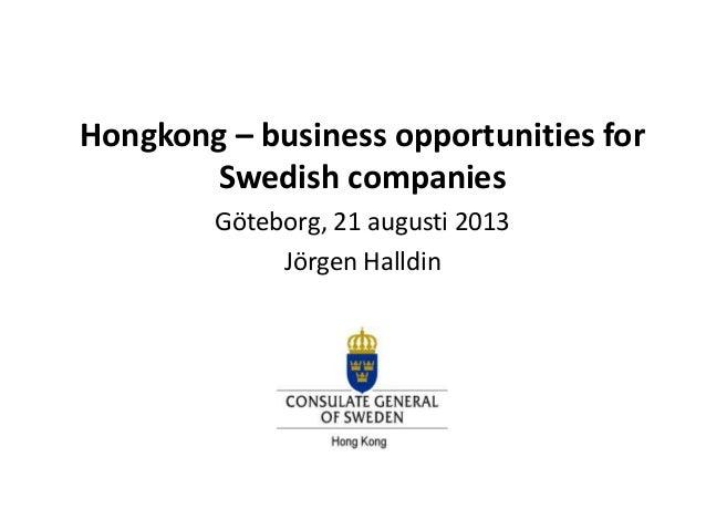 Presentation by Swedish Consul General Hong Kong