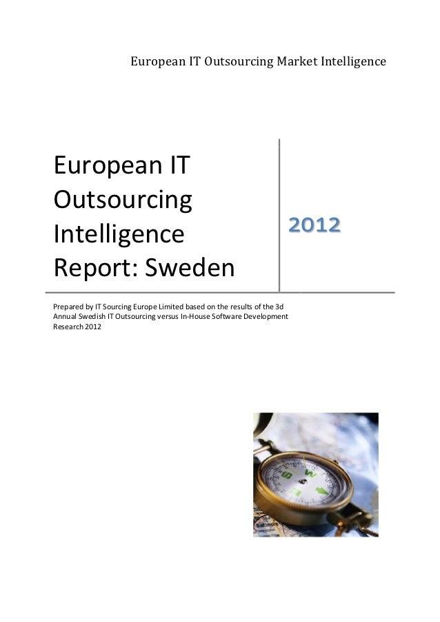 Swedish IT Outsourcing Intelligence Report 2012