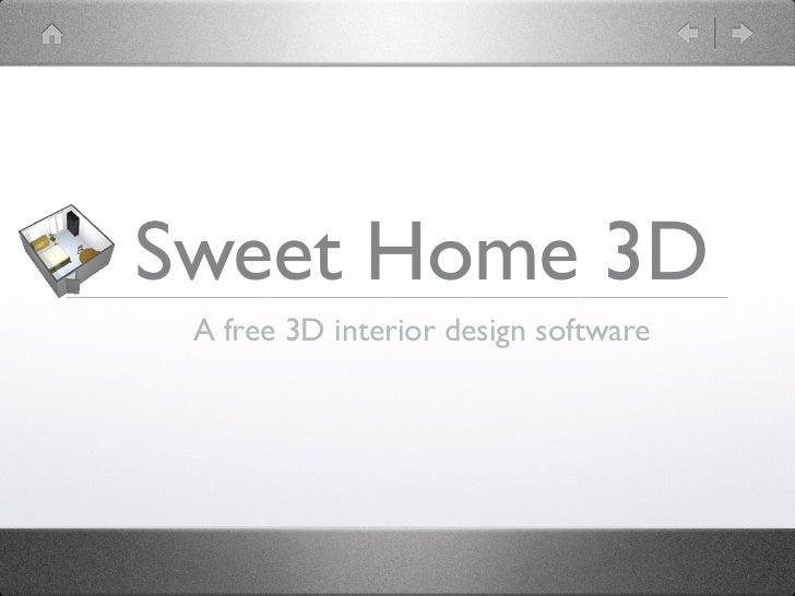 Sweet Home 3D A free 3D interior design software