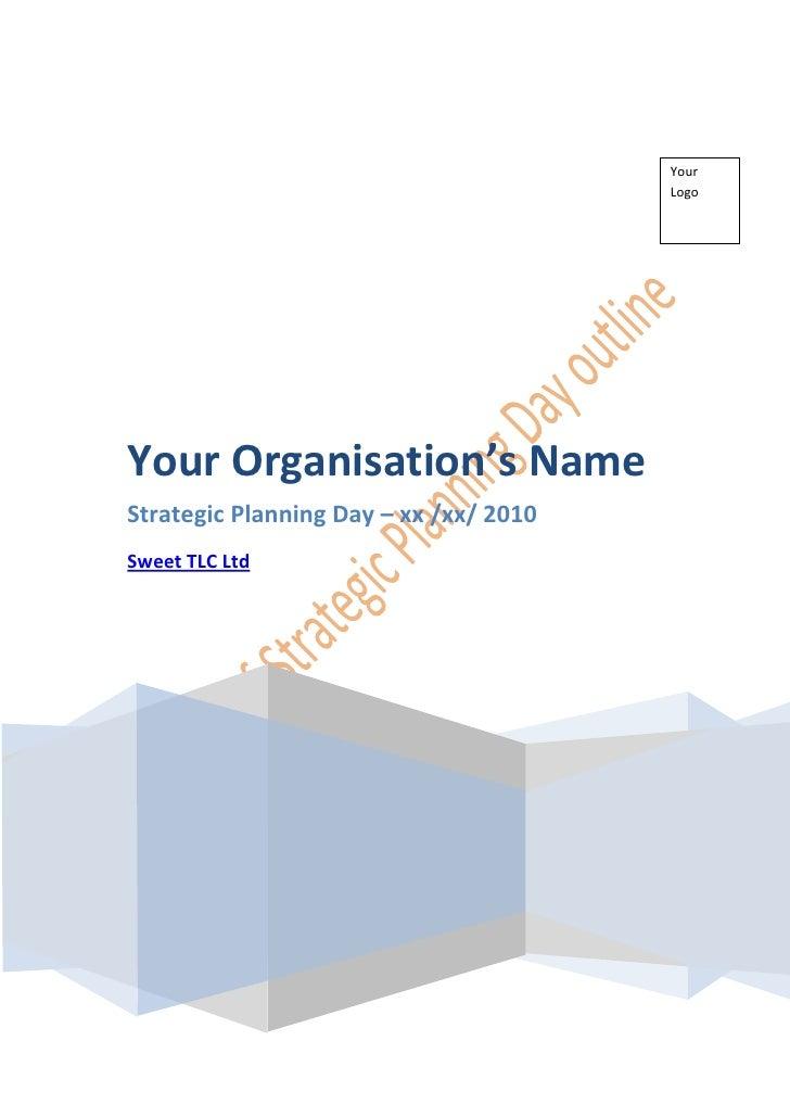 'Strategic Planning' Workshop  ~ Sweet TLC Ltd