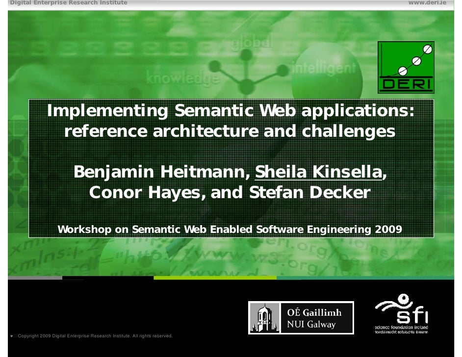 Implementing Semantic Web applications:  reference architecture and challenges