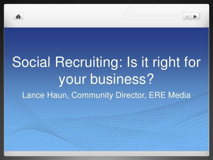 Social recruiting presentation for SWHRMA