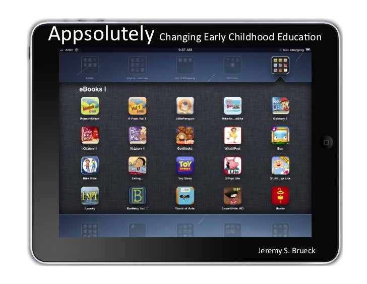 Appsolutely Changing Early Childhood Education: Technology, Literacy & the Young Child