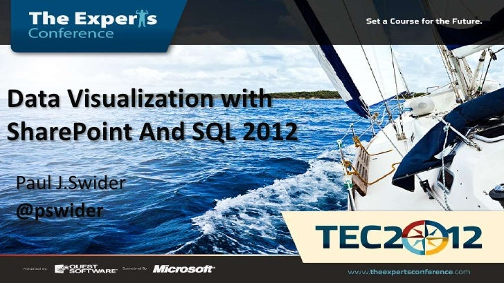Data Visualization withSharePoint And SQL 2012Paul J.Swider@pswider
