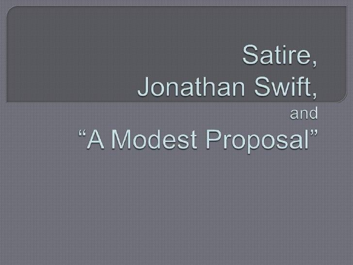 My Modest Proposal Essay