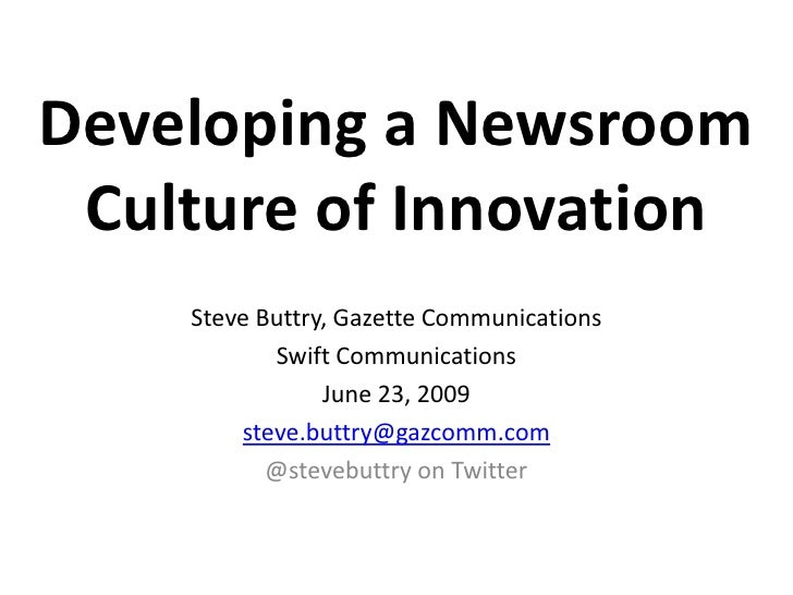 Developing a Newsroom Culture of Innovation
