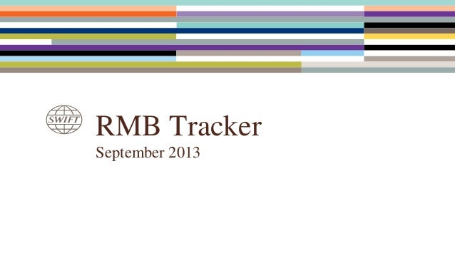 SWIFT RMB Monthly Tracker (September 2013)