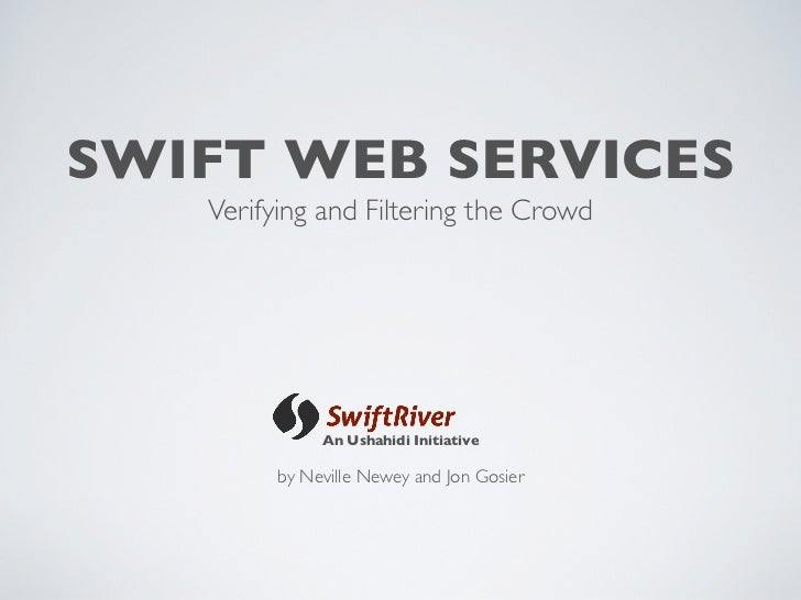 Swift Web Services Overiview