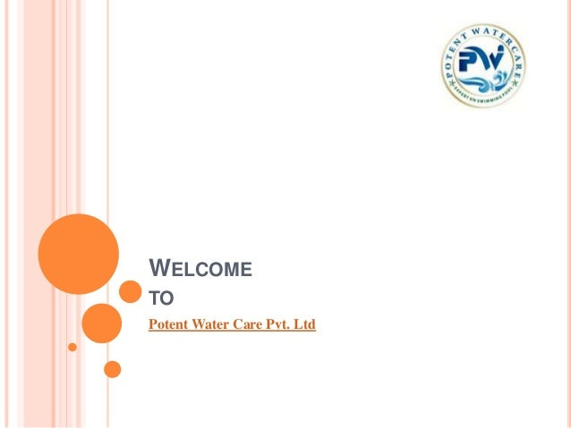 WELCOMETOPotent Water Care Pvt. Ltd