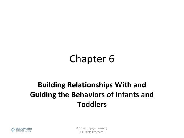 Chapter 6 Building Relationships With and Guiding the Behaviors of Infants and Toddlers ©2014 Cengage Learning. All Rights...