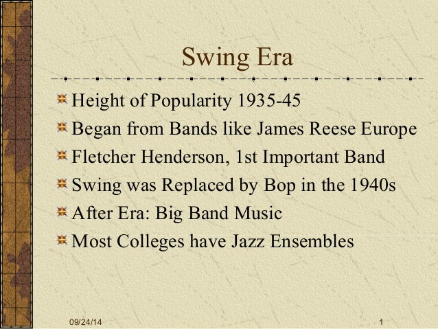 the simularities from the swing era to tin pan alley Jazz history final description uvm jazz history final mu 005 total cards 64 subject music level undergraduate 2 tin pan alley: definition swing era soloists: multi-instrumentalists: definition.
