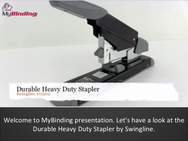 Swingline durable heavy duty stapler demo   swi-11302