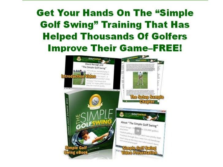 Swing tips for golf