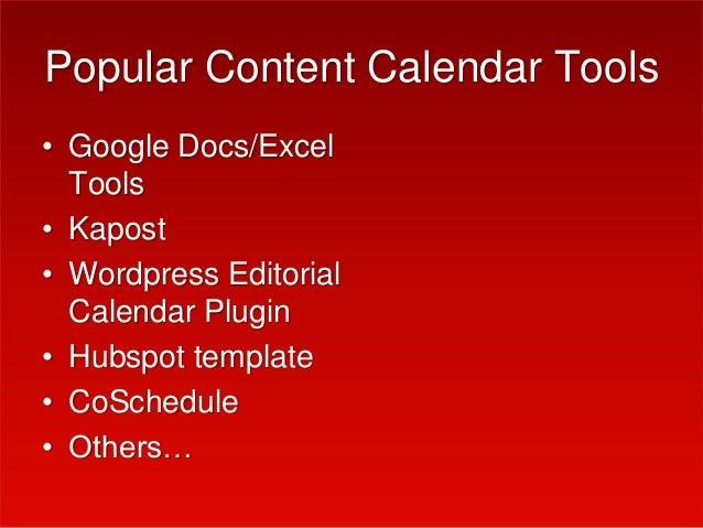 Creating A Content Calendar 2015 Patty Swisher