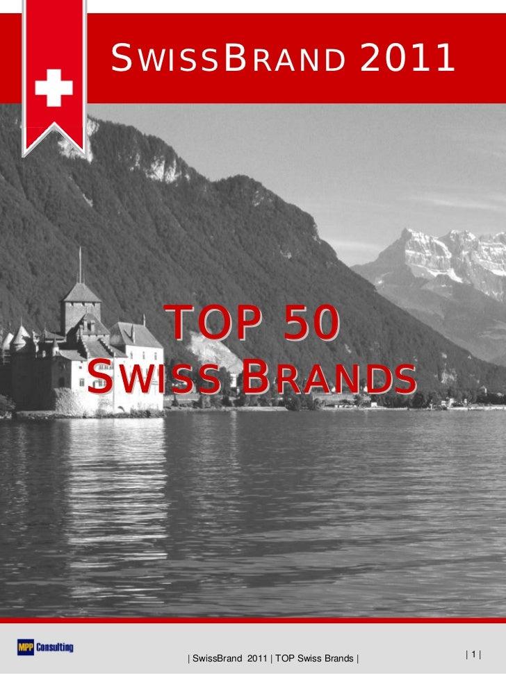 SwissBrand 2011 - TOP50 Swiss Brands