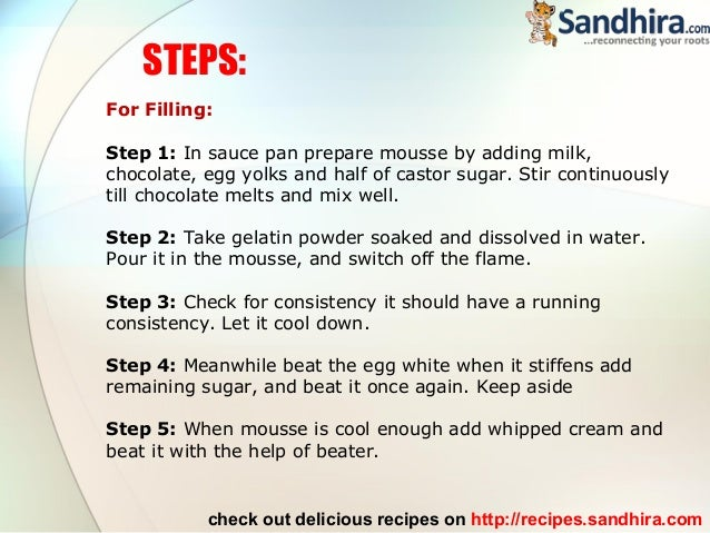 Swiss chocolate mousse cake recipe for How to make a house step by step