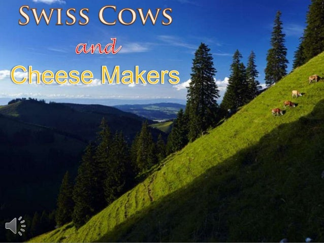 Swiss cows and cheese makers (v.m.)