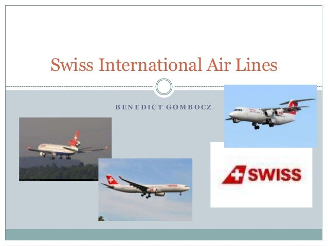 Swiss International Air Lines BENEDICT GOMBOCZ