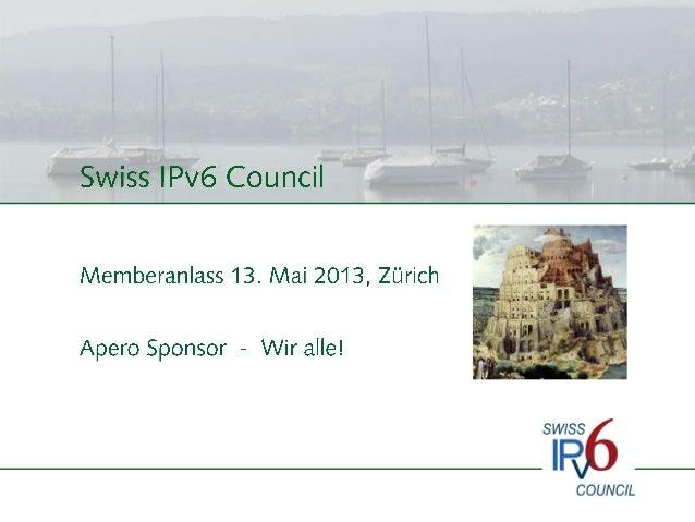 Welcome Speech Member Event Swiss IPv6 Council