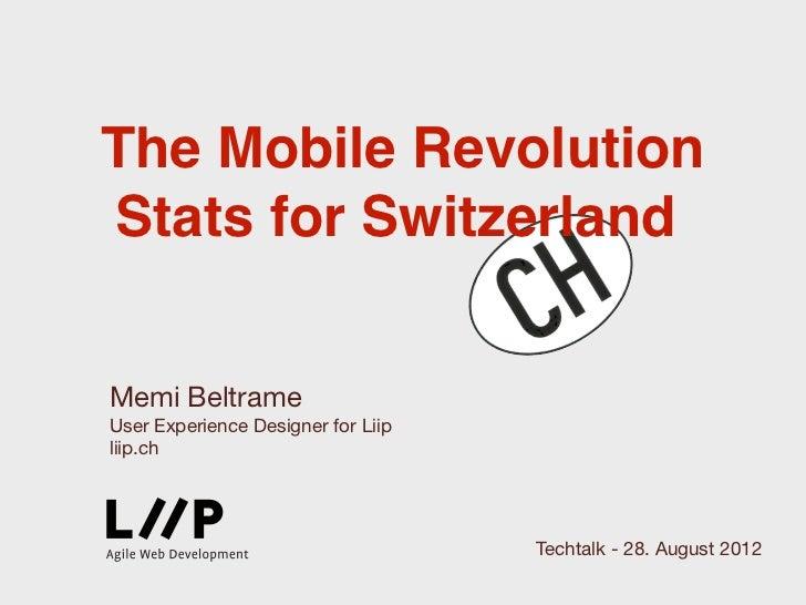 The Mobile RevolutionStats for SwitzerlandMemi BeltrameUser Experience Designer for Liipliip.ch                           ...