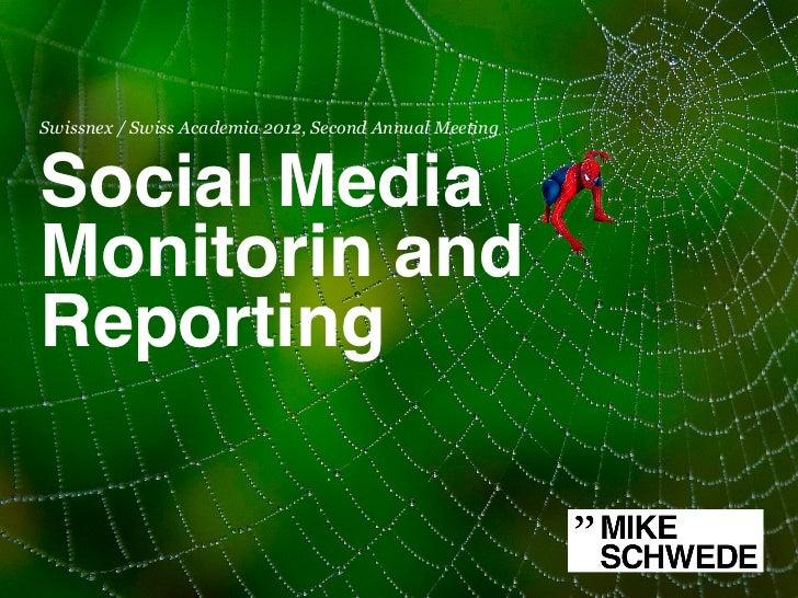 Social Media Monitoring & Reporting