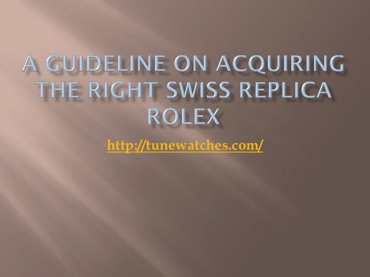 Swiss replica Rolex