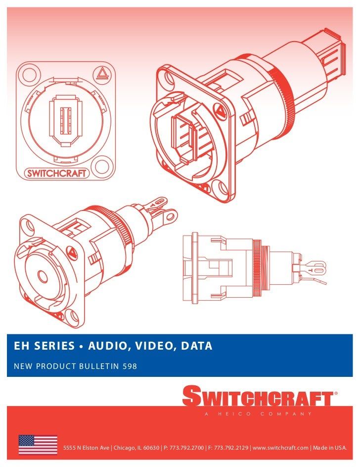 Switchcraft eh series new product bulletin 598