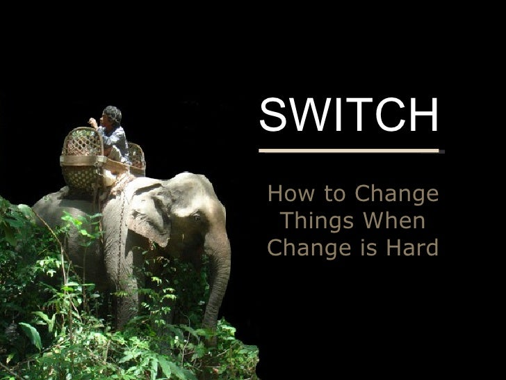 switch how to change things when change is hard synopsis Think fast and slow:   rich dad poor dad:   the most important thing:.