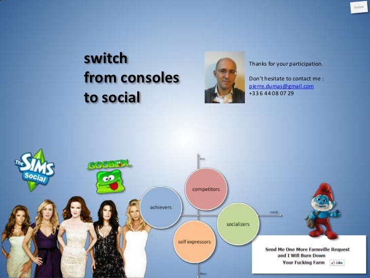 Switch from Consoles to Social games