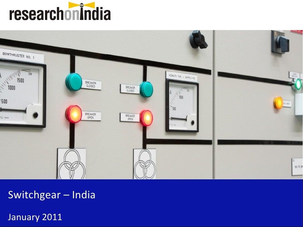 Switchgear – India January 2011