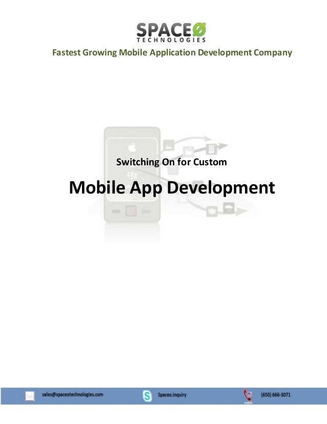 Switching On for Custom Mobile App Development